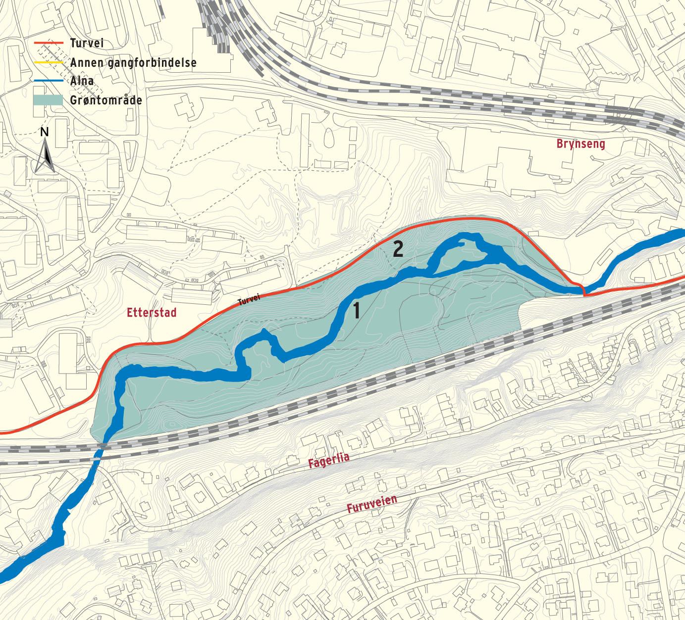 etterstad kart Stovnertår  Alnaelva ved Etterstad etterstad kart